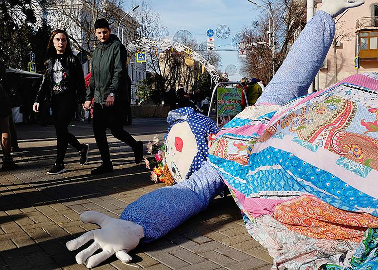 Народные гуляния «Городская масленица» в Краснодаре