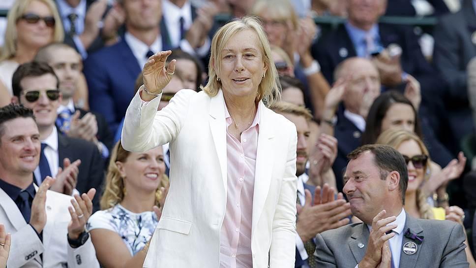 Теннисистка Мартина Навратилова