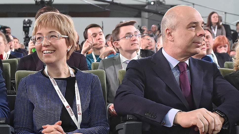 Первый зампред ЦБ Ксения Юдаева и министр финансов Антон Силуанов