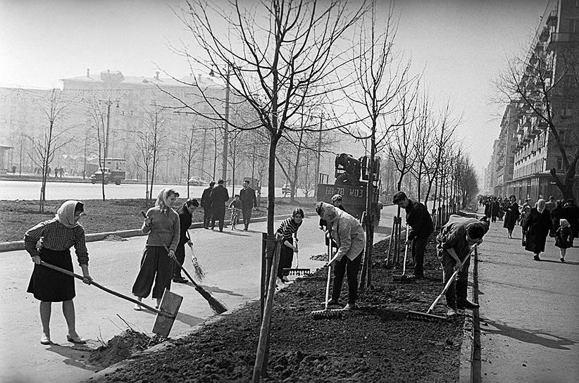 Субботник на улицах Москвы, 1963 год