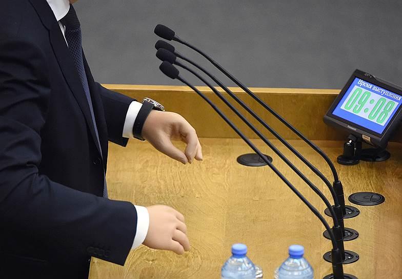 9 апреля, Москва. Депутат Адальби Шхагошев во время заседания Госдумы