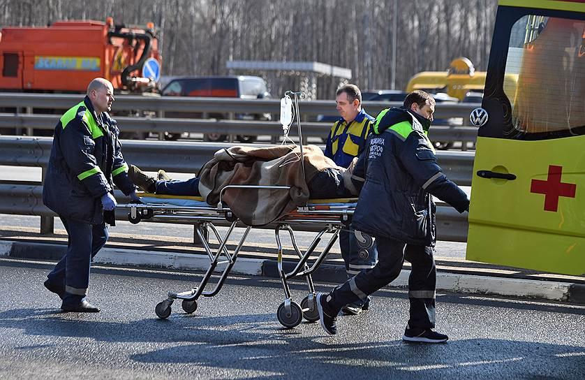 11 апреля, Московская область. Учения по ликвидации последствий чрезвычайных ситуаций на автомобильном транспорте