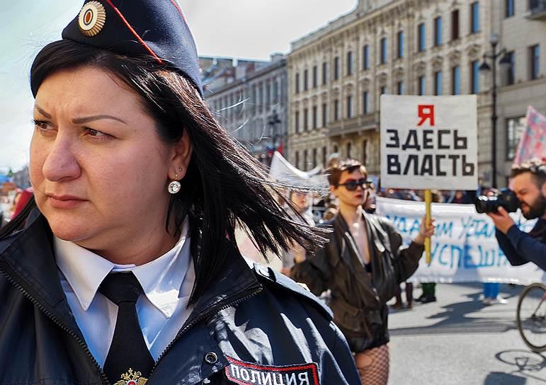 Первомайская «Монстрация» в Санкт-Петербурге