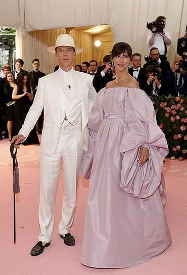Актер Бенедикт Камбербэтч с супругой, актрисой Софи Хантер