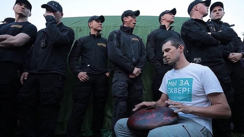 Акция протеста против строительства храма святой Екатерины в Екатеринбурге