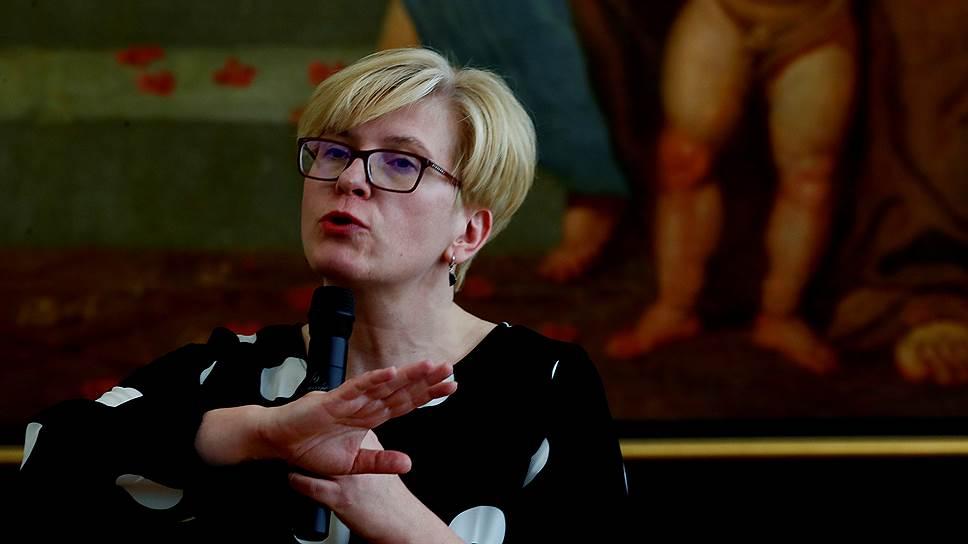 Кандидат в президенты, представитель правоцентристской партии «Союз Отечества — Христианские демократы Литвы» Ингрида Шимоните