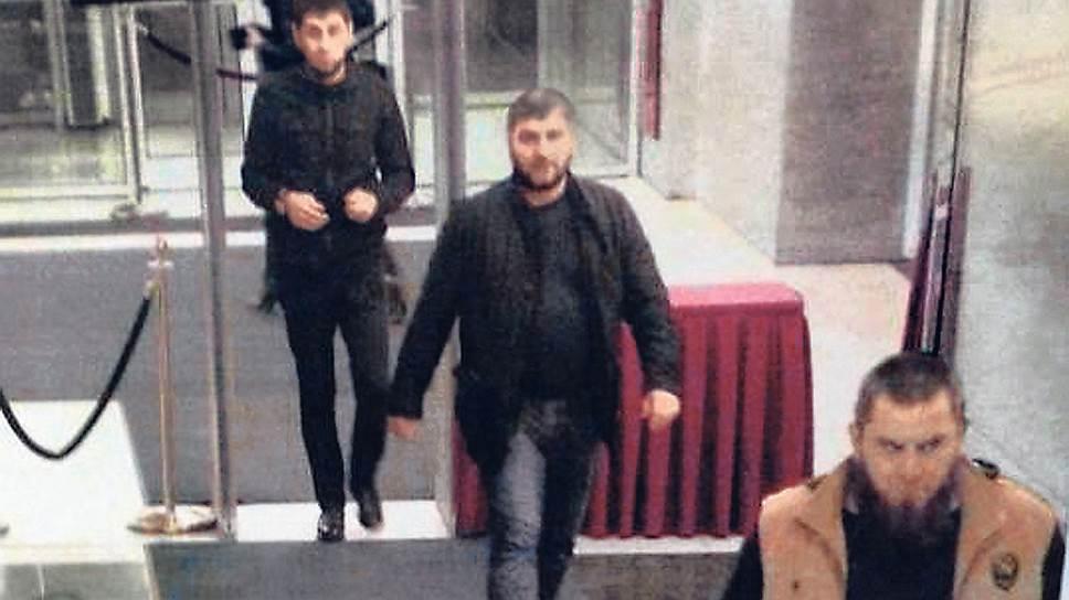 Подозреваемые по делу о убийстве Бориса Немцова Заур Дадаев, Руслан Геремеев и Темерлан Эскерханов