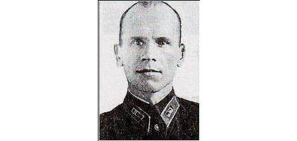 Петр Карпович Сопруненко (1908—1992) — начальник Управления по делам военнопленных и интернированных (УПВИ) НКВД СССР, генерал-майор (1945)
