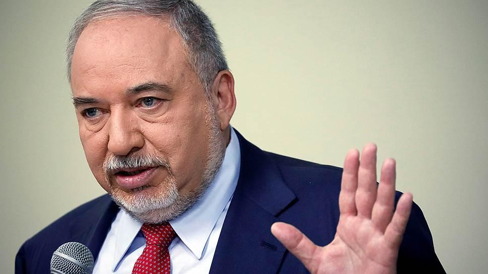 Лидер партии «Наш дом — Израиль» Авигдор Либерман