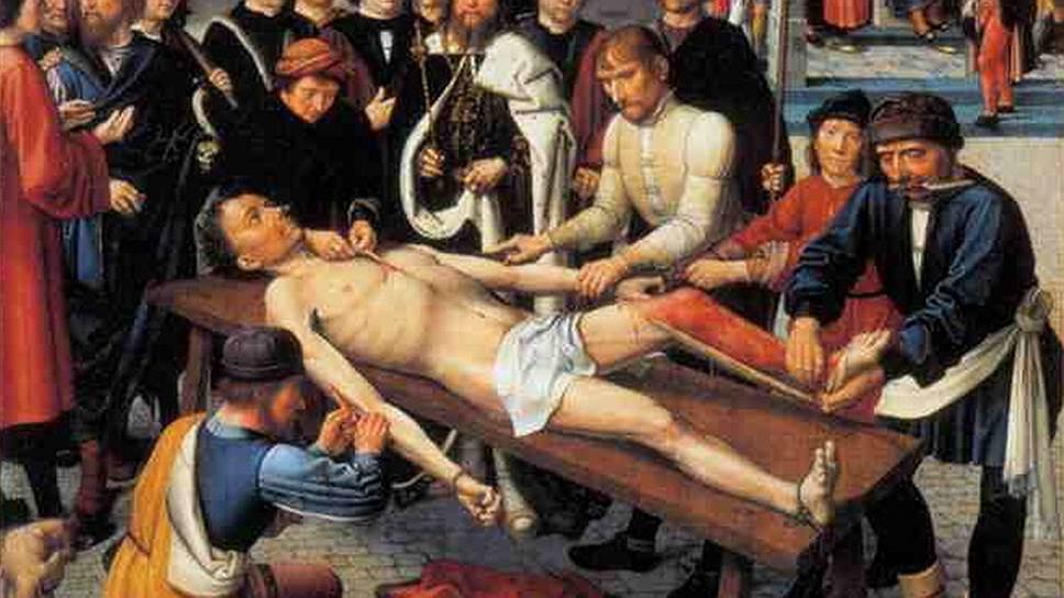 Картина-диптих Герарда Давида «Суд Камбиса» или «Сдирание кожи с продажного судьи»