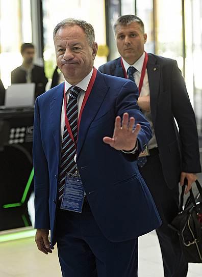 Генеральный директор-председатель правления АО «Федеральная корпорация по развитию малого и среднего предпринимательства» Александр Браверман во время форума