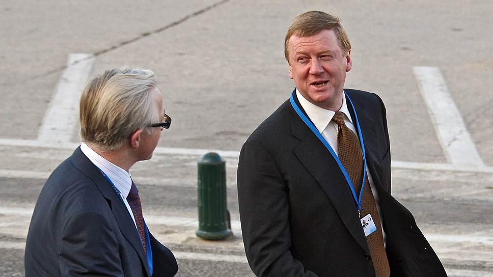 Глава РСПП Александр Шохин (слева) и глава «Роснано» Анатолий Чубайс