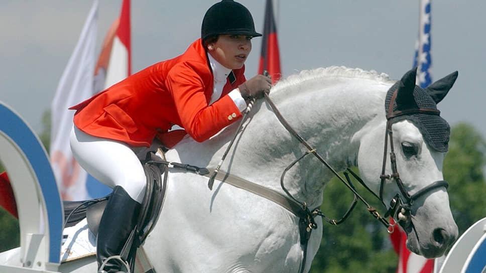 Принцесса Хайя бинт аль-Хусейн на соревнованиях в швейцарском Люцерне