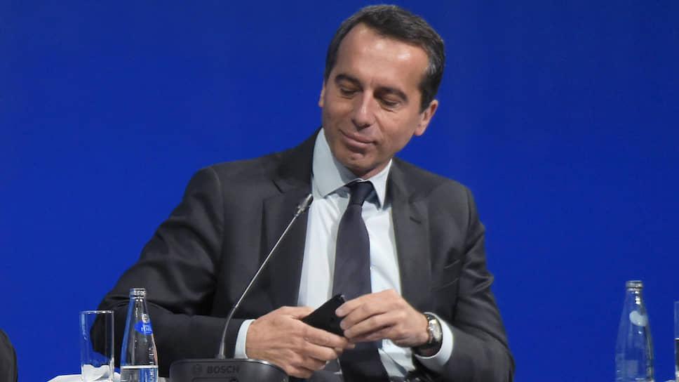 Экс-канцлер Австрии Кристиан Керн