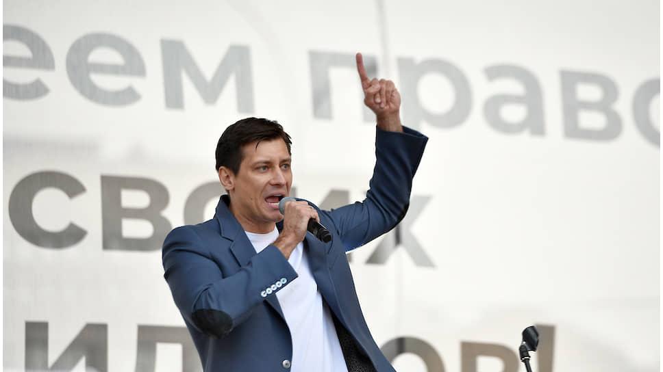 Кандидат в депутаты Мосгордумы Дмитрий Гудков, которому Мосгоризбирком отказал в регистрации