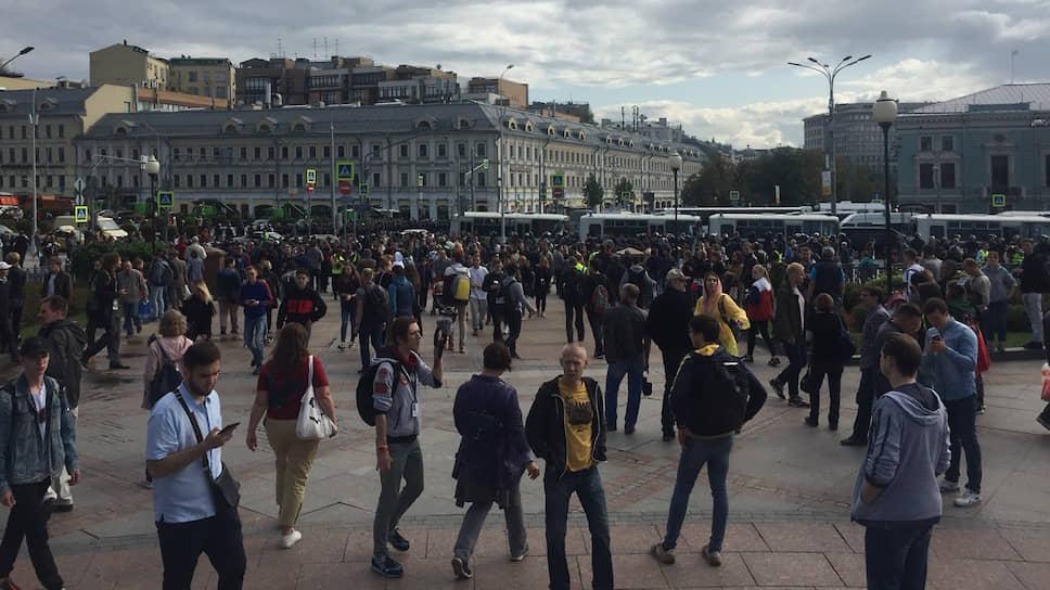 Акция протеста на Трубной площади