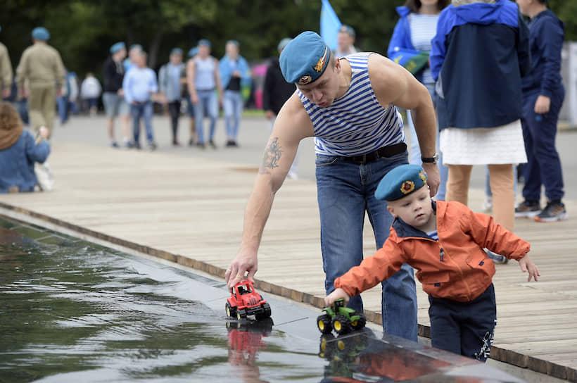 Праздничные мероприятия в Москве также прошли в парке Горького
