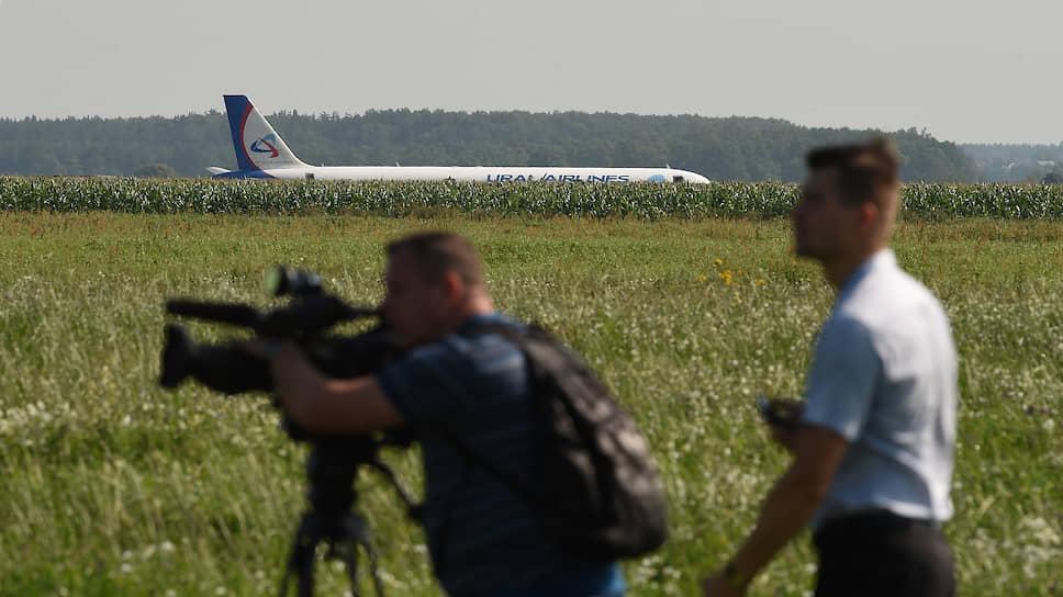 Airbus A321 компании «Уральские авиалинии» совершил аварийную посадку в поле вскоре после вылета из аэропорта Жуковский