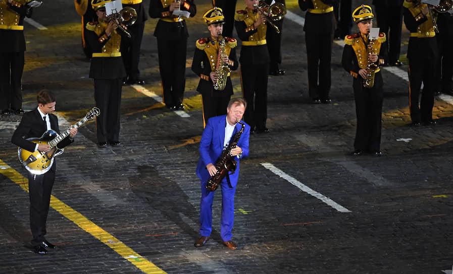 Джазмен Игорь Бутман на церемонии открытия фестиваля «Спасская башня»