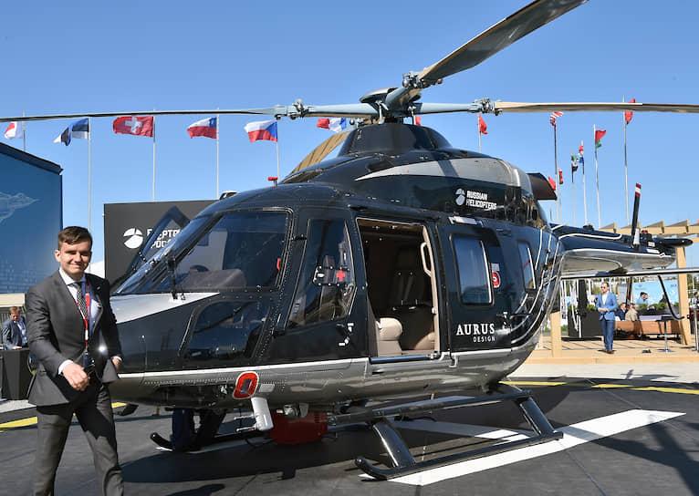 Вертолет люкс-класса, построенный на базе модели «Ансат» в стиле автомобильного бренда Aurus