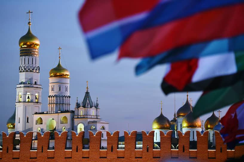 Москва. Церемония закрытия военно-музыкального фестиваля «Спасская башня»