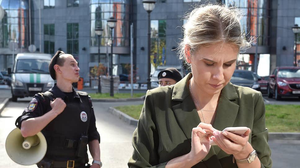Незарегистрированный кандидат в депутаты, юрист ФБК Любовь Соболь