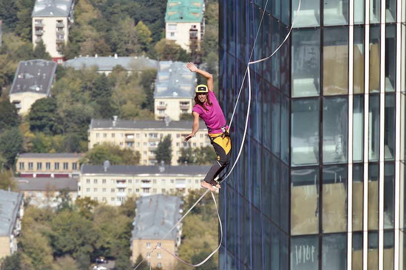 В честь Дня города в комплексе «Москва-Сити» был установлен новый мировой рекорд по хайлайну