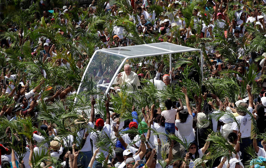 Порт-Луи, Маврикий. Визит папы римского Франциска