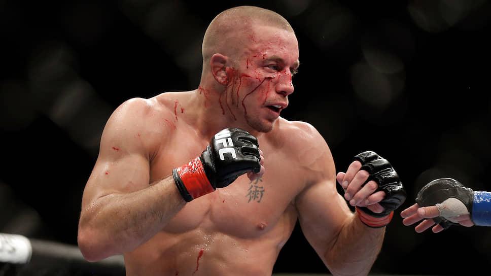 Бывший двукратный чемпион UFC в полусреднем весе и бывший чемпион UFC в среднем весе канадец Жорж Сен-Пьер