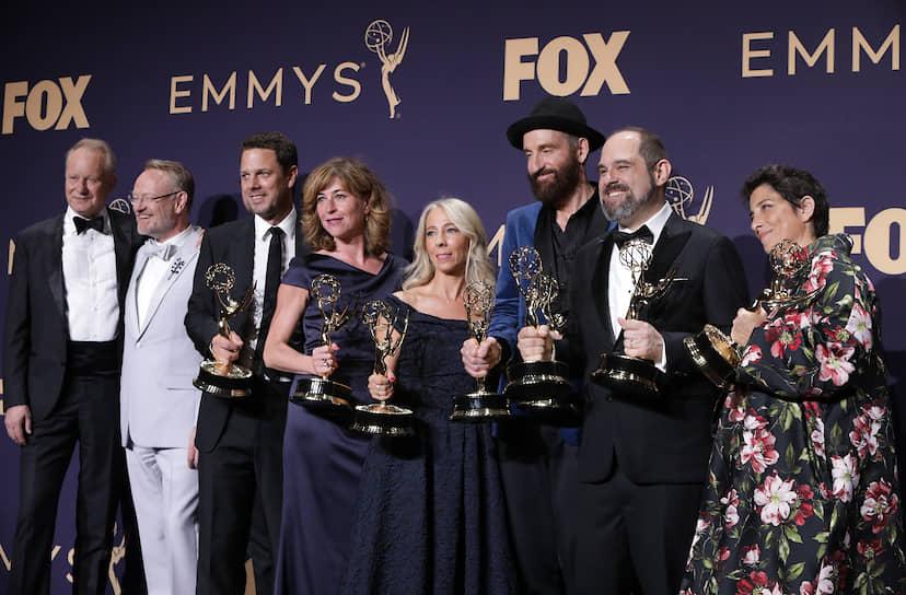 Команда сериала «Чернобыль» с наградой за «Лучший мини-сериал»