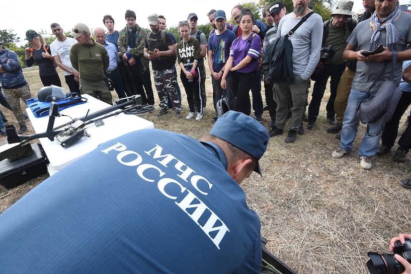 Занятия с журналистами провели сотрудники Главного управления МЧС по Севастополю