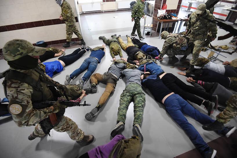 Учебный захват журналистов террористами проводился на территории воинской части