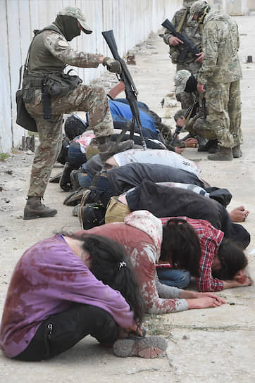 Имитация захвата террористами группы журналистов