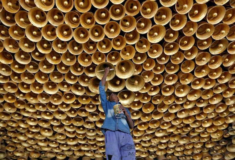 Калькутта, Индия. Подготовка к индуистскому празднику поклонения богине Дурге