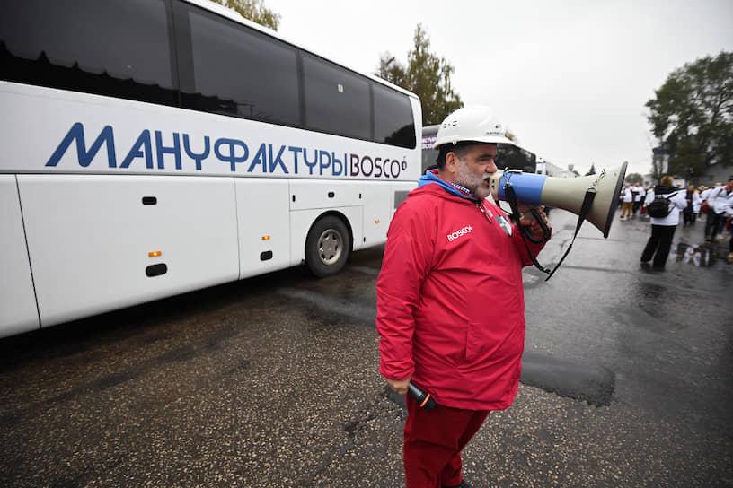 Председатель наблюдательного совета компании Bosco di Ciliegi Михаил Куснирович на церемонии открытия производственного комплекса «Мануфактуры Боско» в Калуге