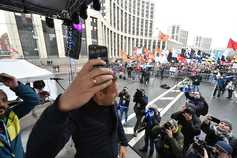 По данным МВД, на митинг пришли около 20 тыс. человек, «Белый счетчик» насчитал 25,2 тыс. участников на момент окончания мероприятия в 17:00