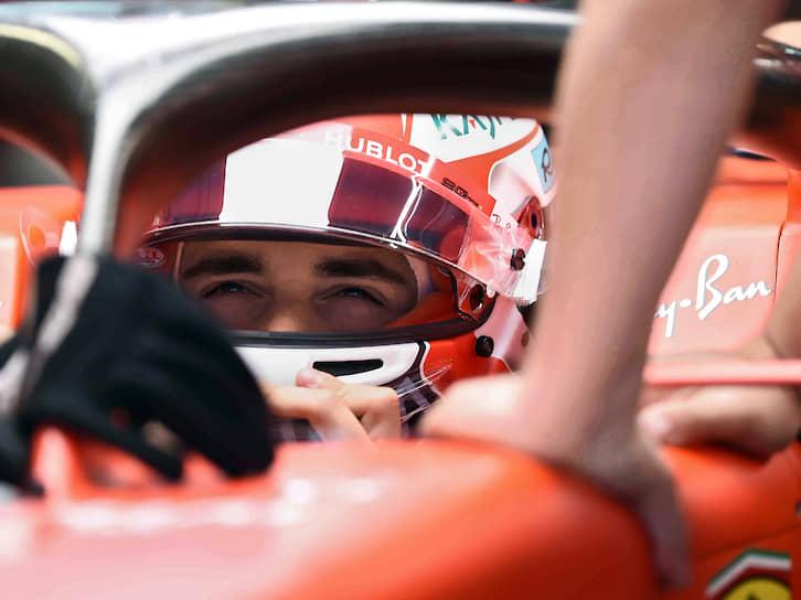 Пилот команды Ferrari Шарль Леклер, который финишировал третьим