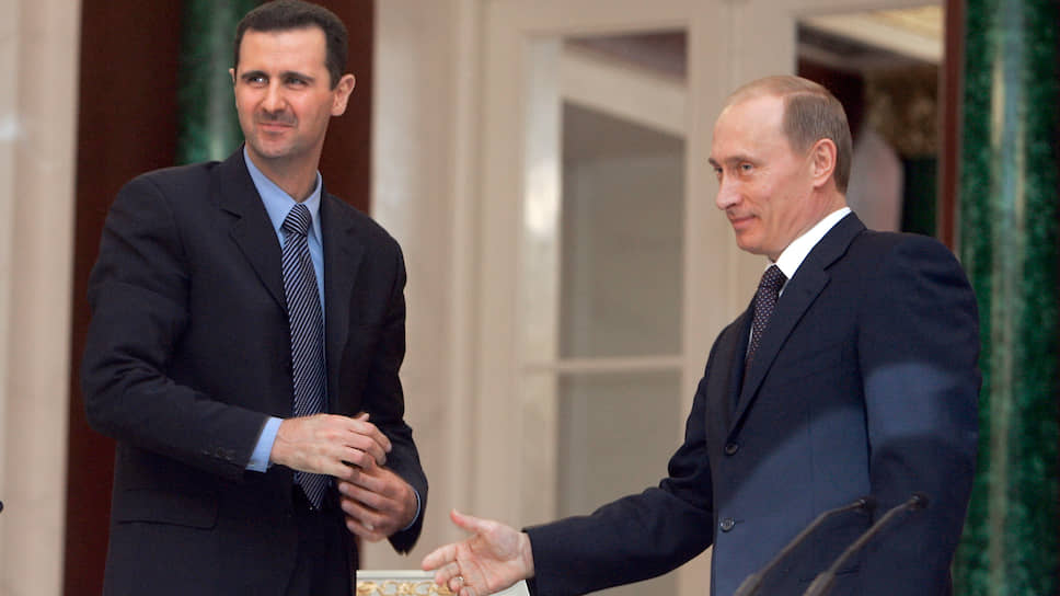 Первая встреча президентов России и Сирии Владимира Путина и Башара Асада (Москва, февраль 2005 год)