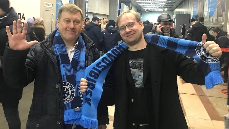 Сын мэра Новосибирска Анатолия Локотя (слева) Богдан Локоть