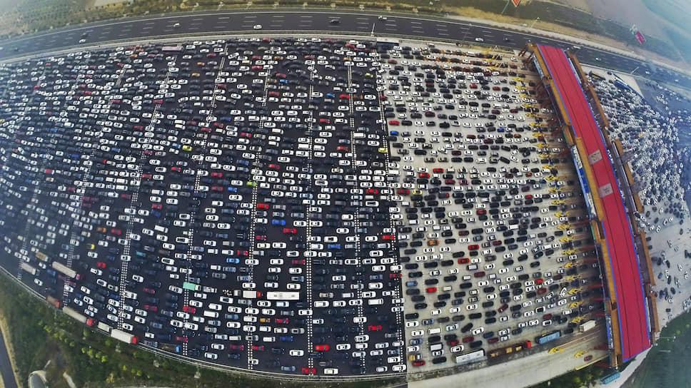 Автомобильная пробка в Пекине