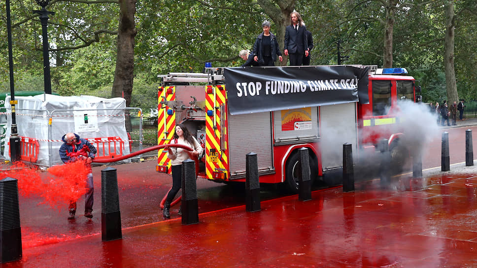 Протест экоактивистов в Лондоне