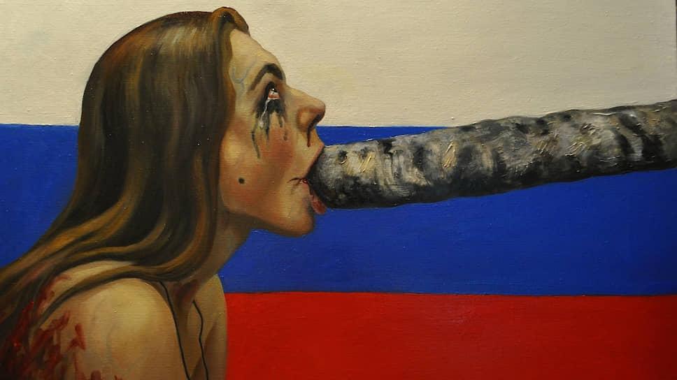 Картина Вероники Полонской «Алиса в стране чудес»