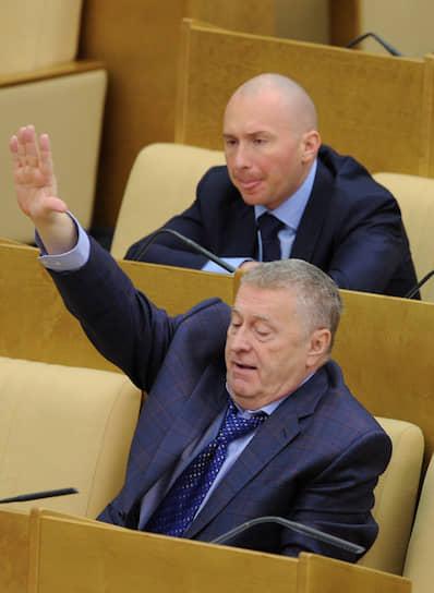 2011 год. Лидер ЛДПР Владимир Жириновский на заседании Госдумы