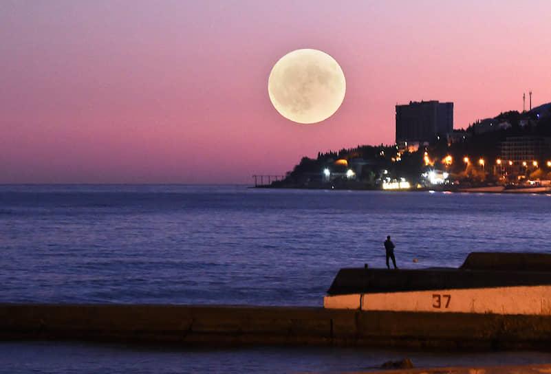 Ялта, Крым. Вид ночного города