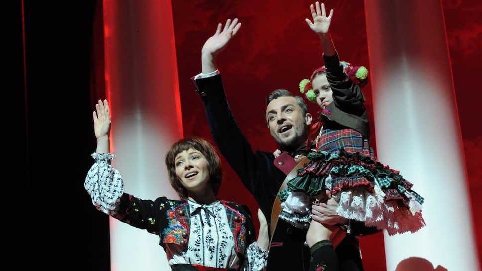 Екатерина Гусева и Валерий Панков во время открытой репетиции мюзикла «Звуки музыки»