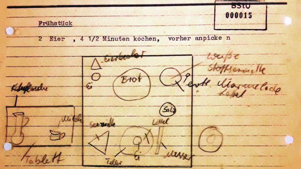 Глава «Штази» любил во всем порядок и точность — даже в расстановке чашек и тарелок во время завтрака и варки яиц