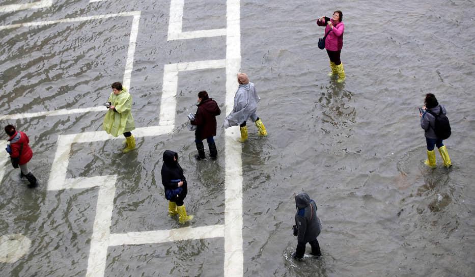 Уровень воды в Венеции достиг 187 см