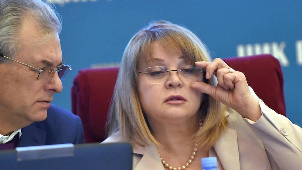 Председатель Центральной избирательной комиссии России Элла Памфилова и ее заместитель Николай Булаев