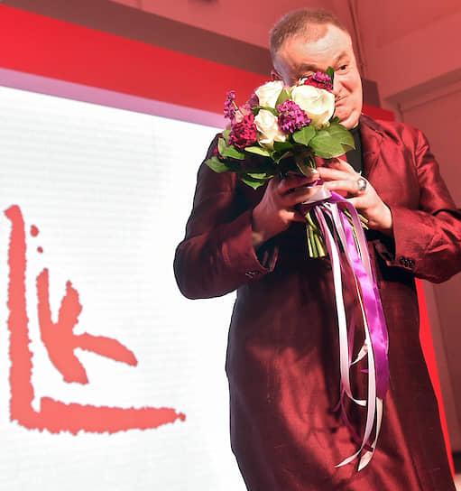 Художник, искусствовед Андрей Хлобыстин во время церемонии вручения XII независимой российской премии в области современного искусства «Премии Кандинского» в ММОМА
