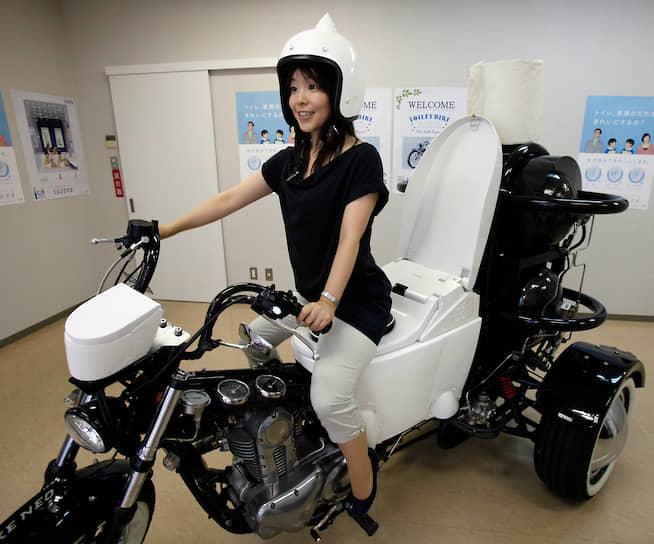 <b>По-настоящему безотходное производство</b><br> Японский мотоцикл, работающий на отходах жизнедеятельности